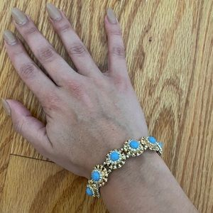 Periwinkle and Gold Bracelet